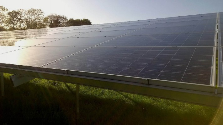 Solar panels near Cambridge free of dust and bird droppings