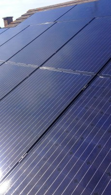 Clean solar panels ready to produce large amounts of energy